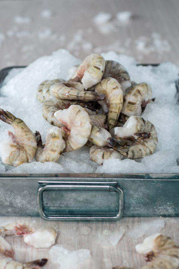 Didžiųjų tigrinių krevečių uodegėlės